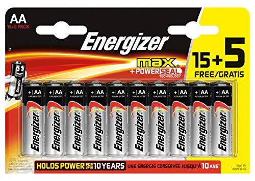 Energizer - Confezione da 20 batterie AA