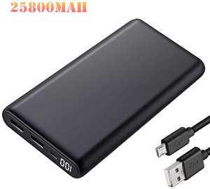 Powerbank 2 USB 25800mAh 13.9€