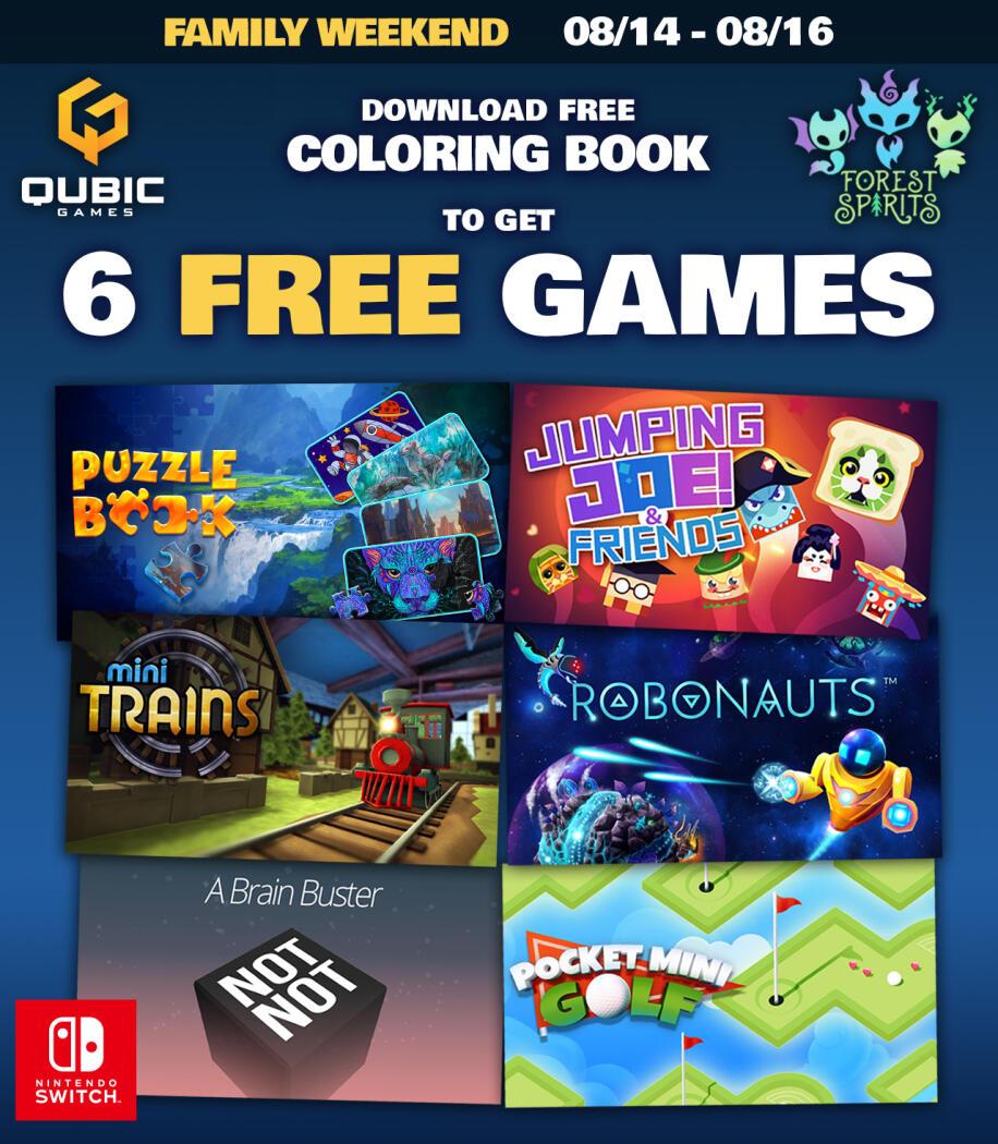 6 Giochi gratis Nintendo Switch Scaricando Colouring Book Gratuitamente