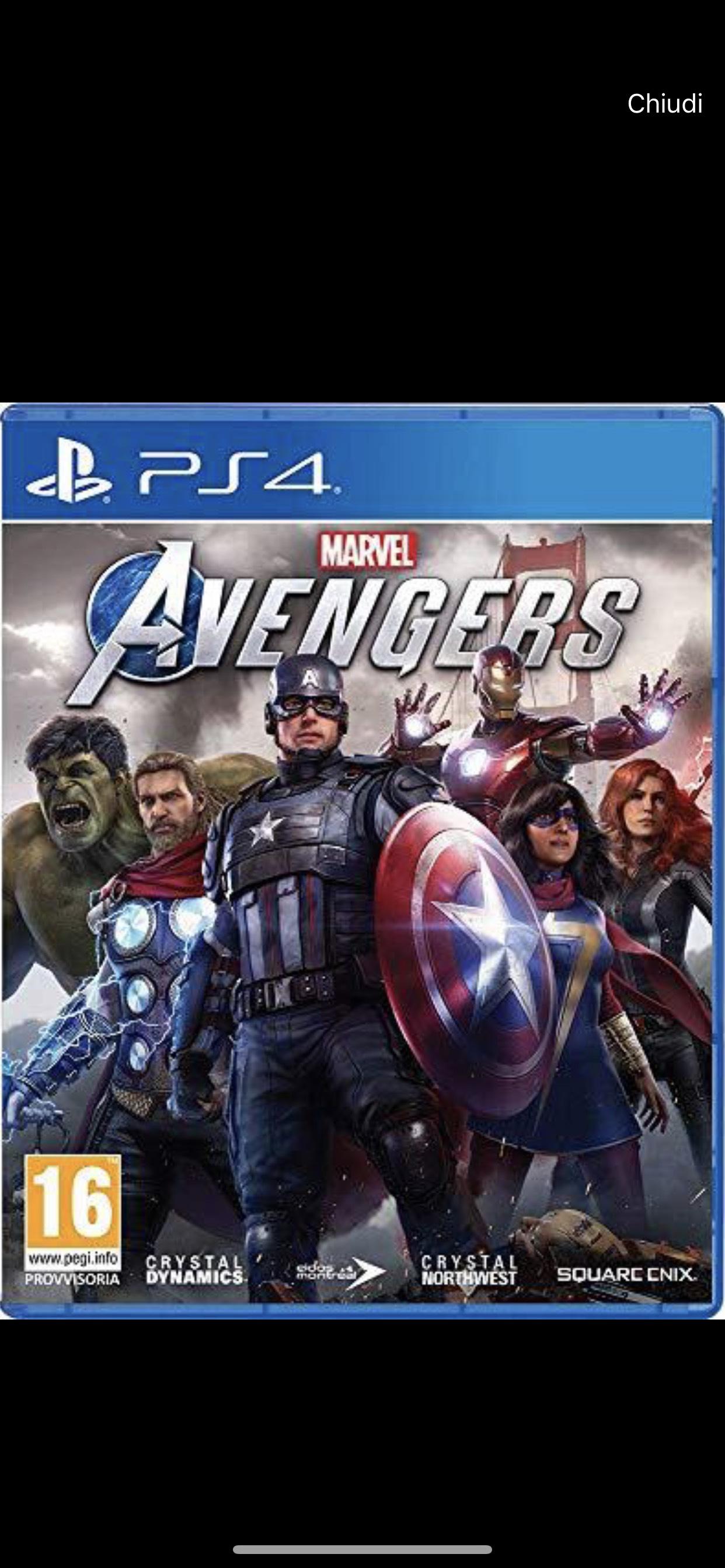 BETA Avengers Marvel's per PS4