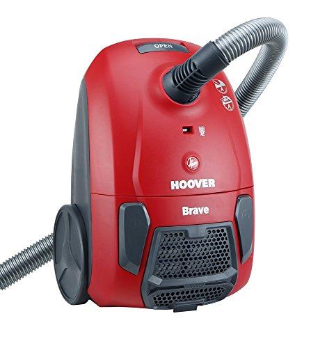 Hoover BV 10 Traino con Sacco Brave, Rosso [Classe di efficienza energetica A]