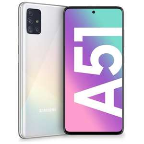 "SAMSUNG Galaxy A51 Bianco 128 GB 4G / LTE Dual Sim Display 6.5"" Full HD+ Slot Micro SD Quadrupla Fotocamera Android Italia"