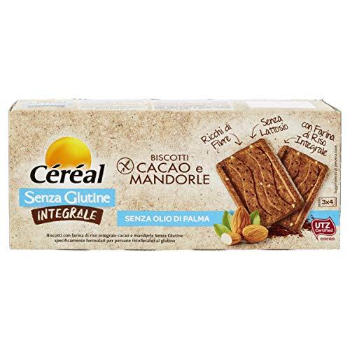Biscotti Senza Glutine, Biscotti Integrali con Cacao e Mandorle, con farina di riso integrale, con caco UTZ - 150 g