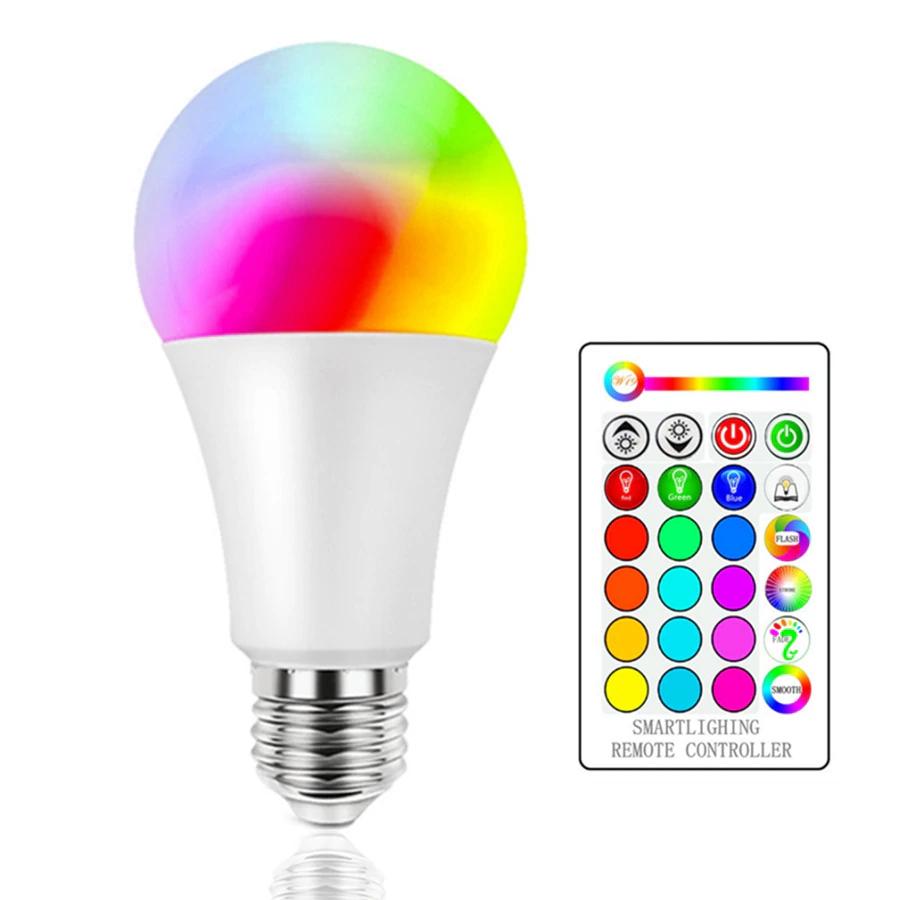 Lampadina LED RGB con telecomando