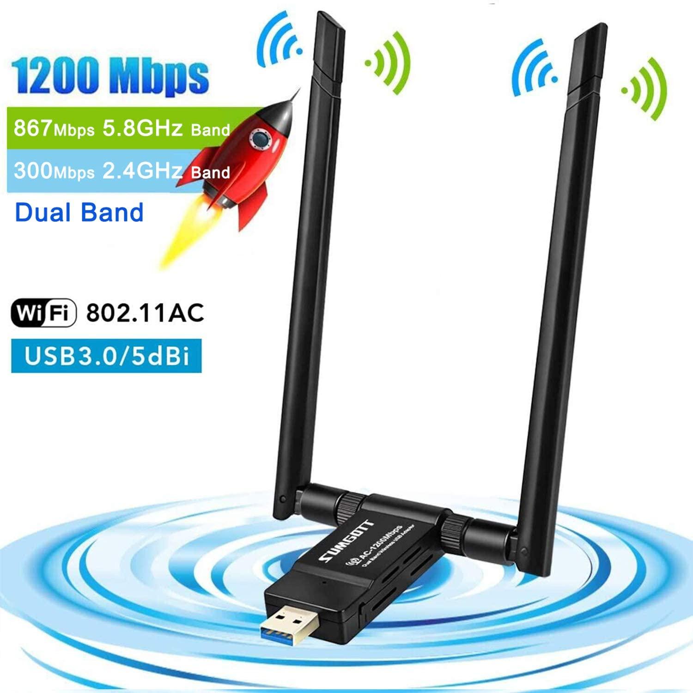 Adattatore Wifi USB 3.0 1200Mbps 8.4€