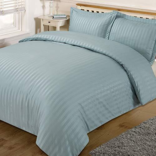Dreamscene–Set di biancheria da letto a righe, in satin