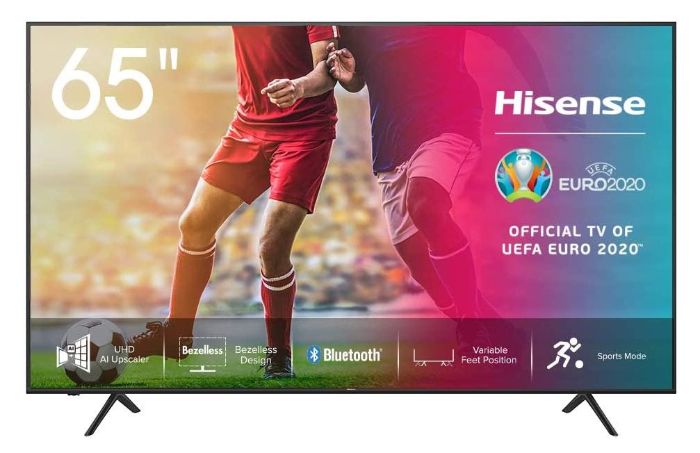 """Smart TV 65"""" Hisense 4K HDR 549€"""