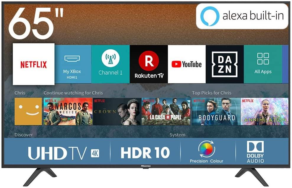 """Smart TV Hisense 65"""" HDR10 4K 499€"""