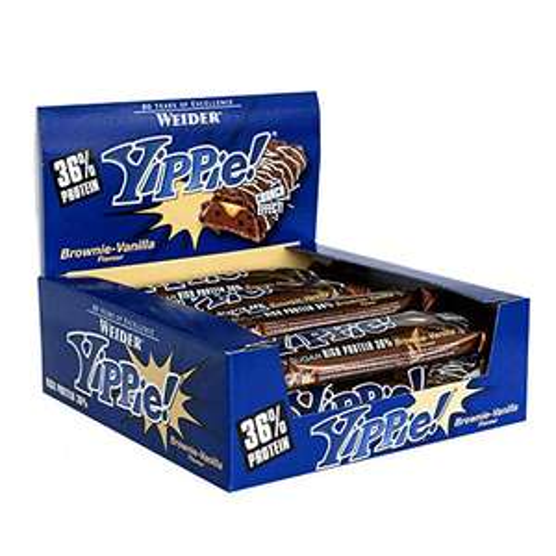 Weider Yippie Bar, Brownie-Vaniglia, Confezione da 12 (12 x 70g)