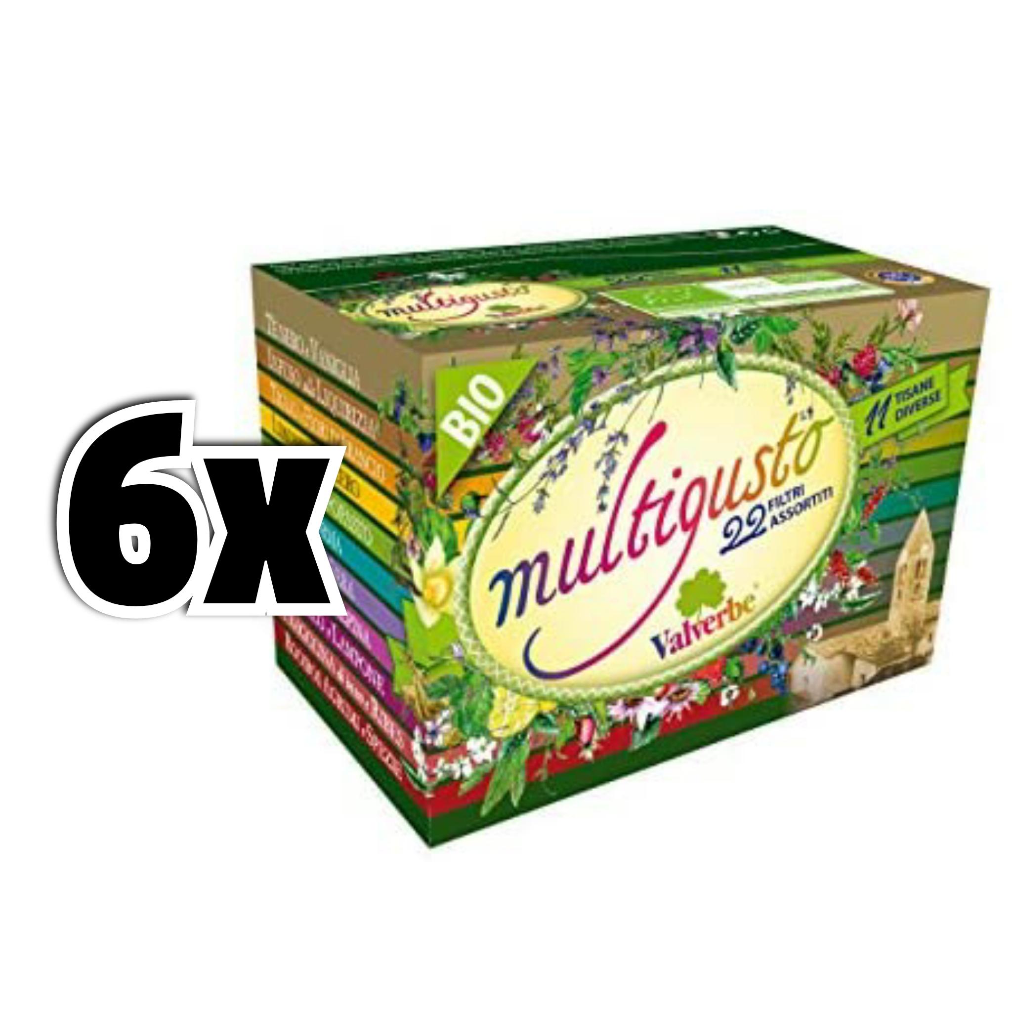 6x 22 filtri VALVERBE Tisane Multigusto