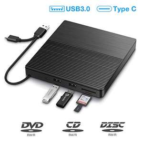 SAWAKE Masterizzatore Dvd CD Externo, USB 3.0 Type C
