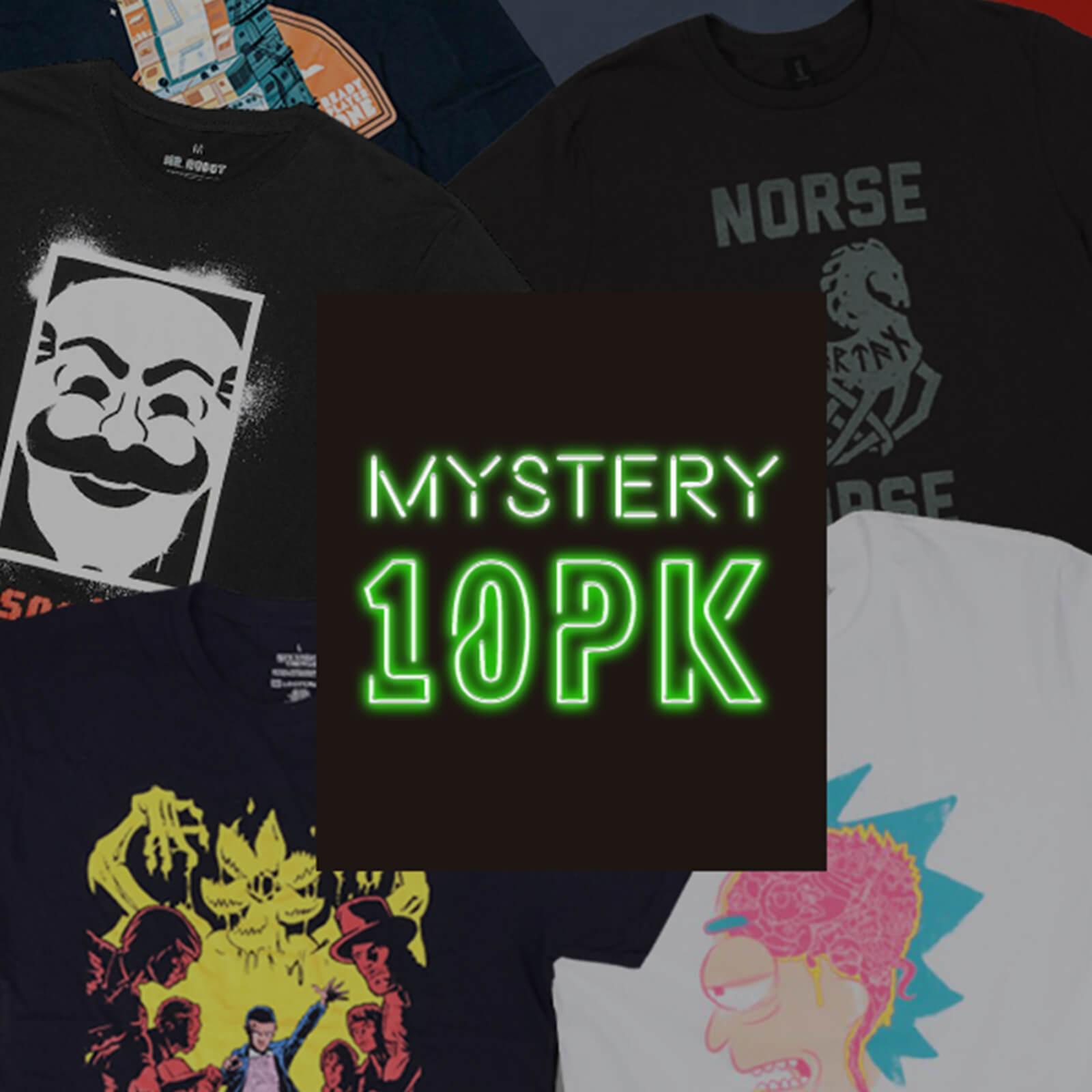 10 T-Shirt Mistery Geek + 2 Funko POP 36.4€