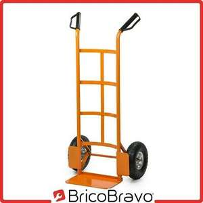 Carrello portapacchi bravetta 200kg trasporto con ruote pneumatiche