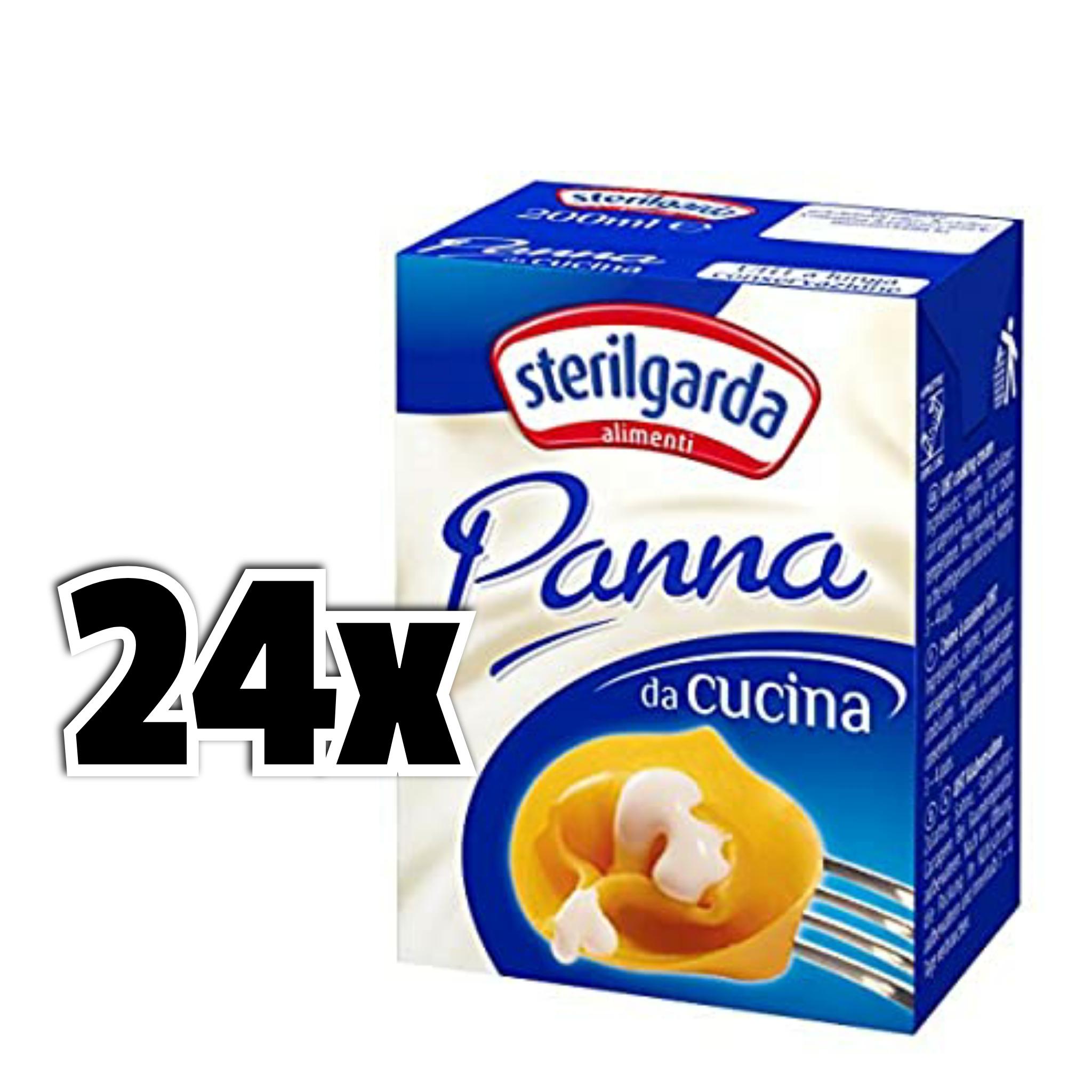 24x 200 ml Sterilgarda Panna da Cucina