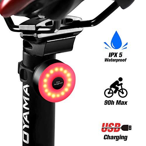 Fanale Posteriore Bicicletta Ricaricabile USB con 5 modalità Fisse Flash