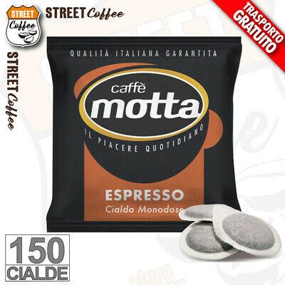 150 Cialde Filtro carta Caffè Motta NO BORBONE ESE 44mm Miscela Rossa Cremoso *