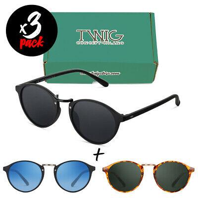 Tris occhiali da sole TWIG Pack PICASSO [Premium] uomo/donna tondi vintage