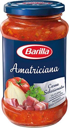 Barilla Sugo all'Amatriciana, con Cipolla e Pancetta Rosolata, Senza Glutine - 400 gr
