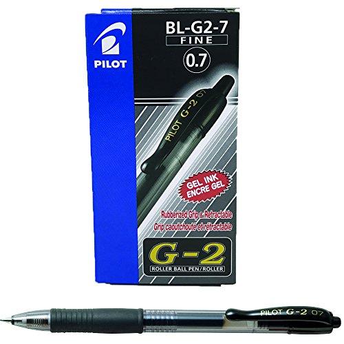 12 penne Pilot G207 (0,7 mm) NERO
