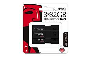 3x32GB Kingston DataTraveler PenDrive USB 3.0