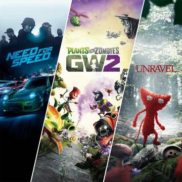 3 giochi PS4: Need for Speed + Plants vs. Zombies Garden Warfare 2 + Unravel