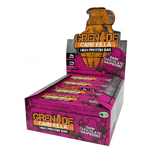 Grenade Barretta Proteica a Basso Contenuto di Carboidrati, Dark Chocolate Raspberry - 12 x 60 g