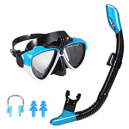 ERRORE DI PREZZO - Maschera Snorkeling, Kit Snorkeling Professionale per Adulti(Nero Blu)