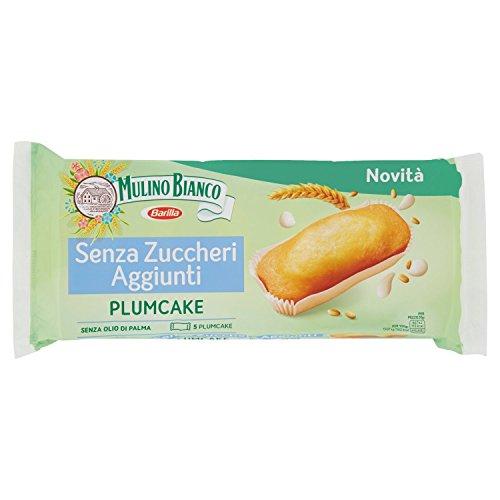 Mulino Bianco Merendine Plumcake Senza Zuccheri Aggiunti, Snack Dolce per la Merenda - 155 gr