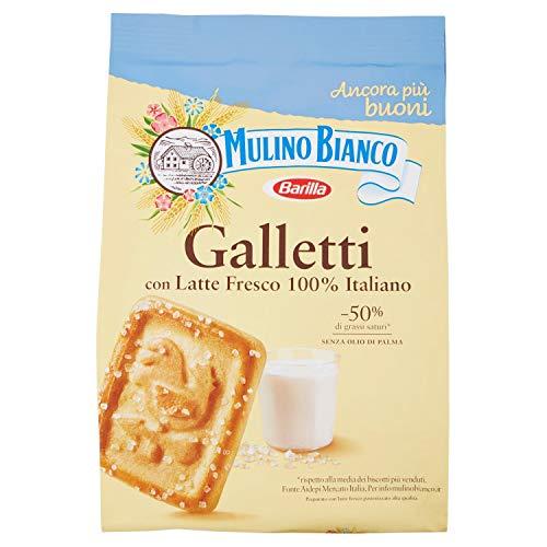 Mulino Bianco Biscotti Frollini Galletti e Macine, Colazione Ricca di Gusto - 800 gr