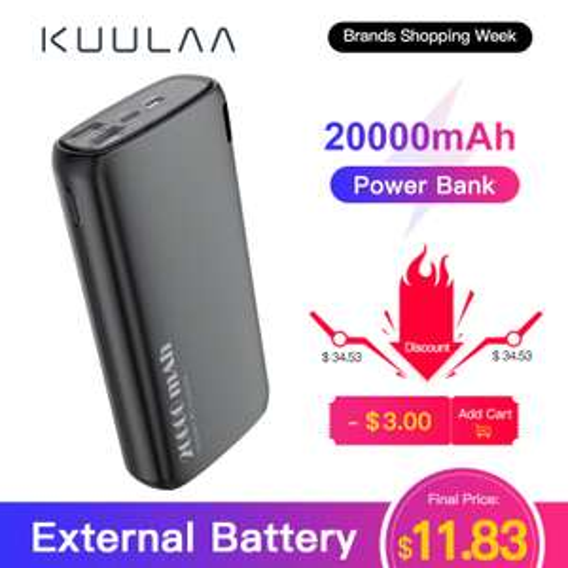 Powerbank KUULAA 20000 mAh