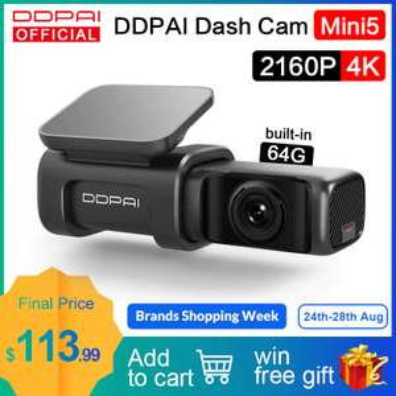 Videocamera Per Auto DDPai Mini5 4K 2160P UHD