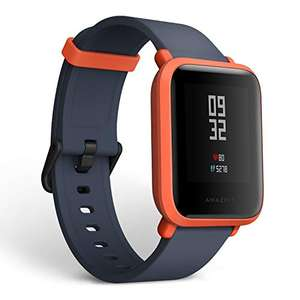 Amazfit Youth, Bip Smartwatch, Rosso (Cinnabar Red), 11 x 9,5 x 7 cm