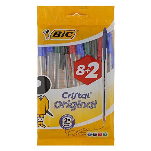 10 penne Bic Cristal