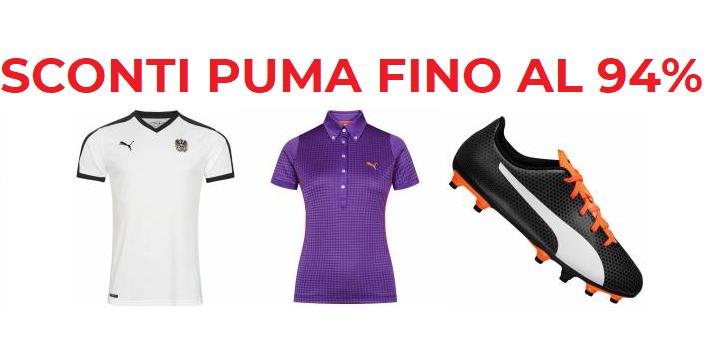 Sconti Articoli Puma -94%