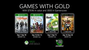 Xbox Games with Gold - Settembre 2020 - Tom Clancy's The Division / The Book of Unwritten Tales 2 / de Blob 2 / Armed and Dangerous