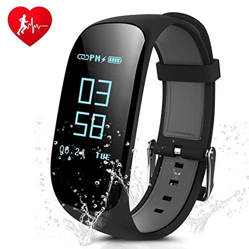 CAMTOA Fitness Tracker, IP67 Impermeabile Orologio Cardiofrequenzimetro