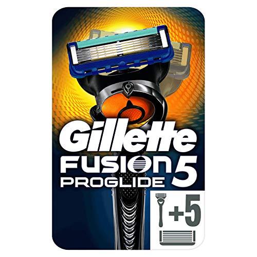 Gillette Fusion5 ProGlide 1 Rasoio da Uomo + 5 Lamette