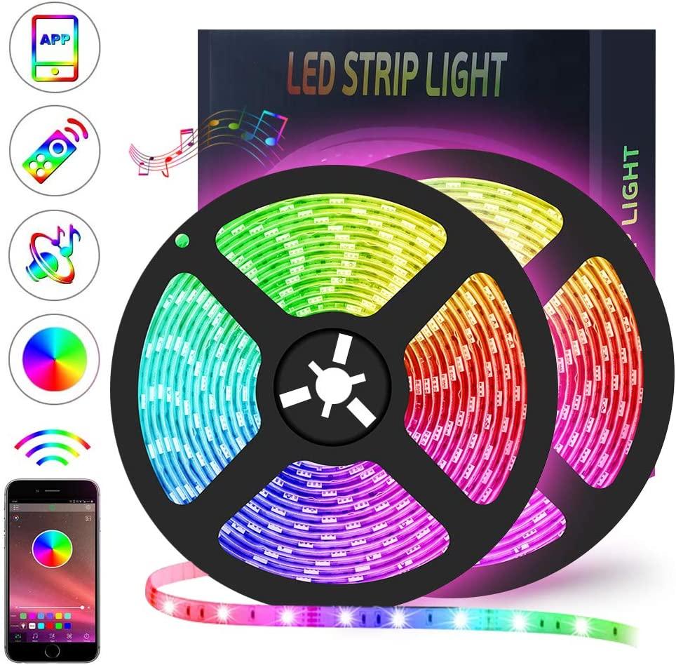 Striscia LED RGB 10Mt (2x5Mt) con App 17.9€
