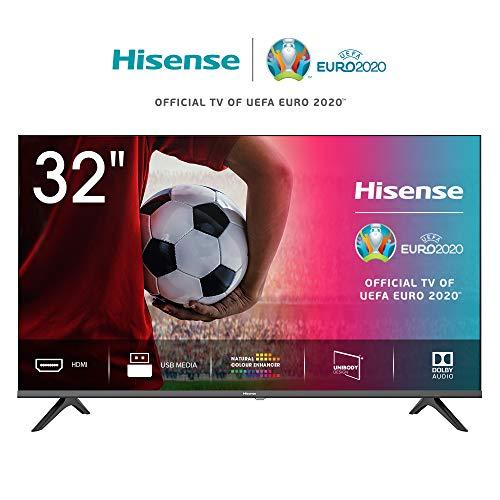 "Hisense 32AE5000F TV LED HD 32"", Bezelless, USB Media Player, Tuner DVB-T2/S2 HEVC Main10 [Esclusiva Amazon - 2020]"