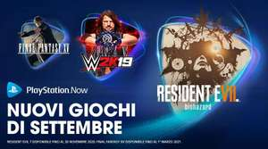 PLAYSTATION NOW - Giochi Settembre 2020