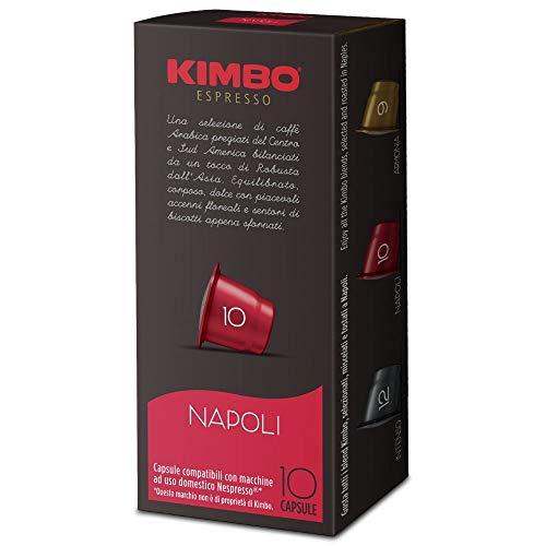 Kimbo Capsule di Caffè - Compatibili Nespresso - Napoli (10 Confezioni da 10 Capsule, Totale 100 Capsule)