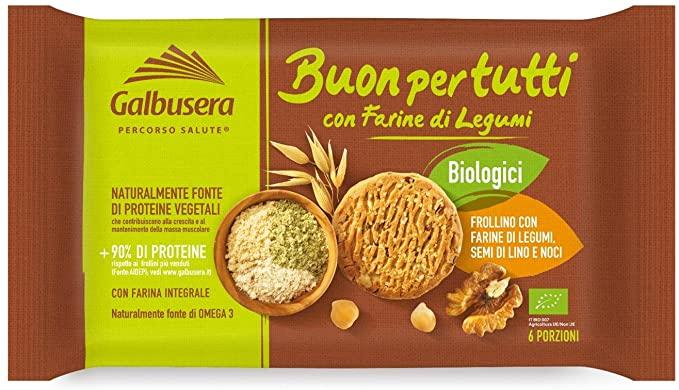 12 x Biscotti Biologici con Farine di Legumi Galbusera