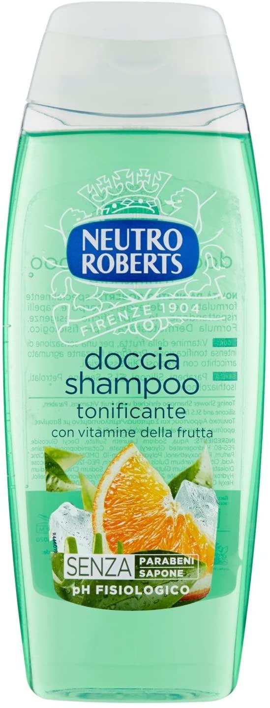 NEUTRO ROBERTS Doccia Shampoo Tonificante - 6 Confezioni da 250 ml