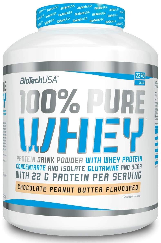 BioTech 100% Pure Whey Proteine , Sapore Caramello e Cappuccino - 2270 gr