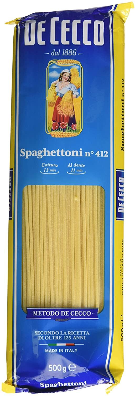 4 x De Cecco Spaghettoni n°412 - 500gr