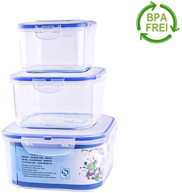Set di 3 contenitori Ermetici per Alimenti