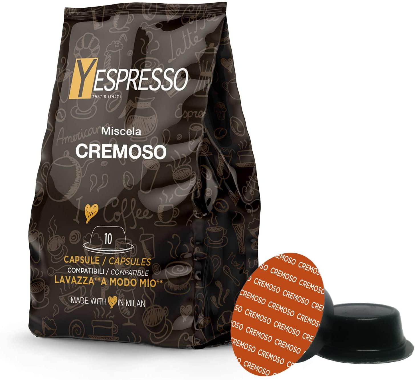 Yespresso Capsule compatibili a Modo Mio Lavazza ( Cremoso 100 pz)
