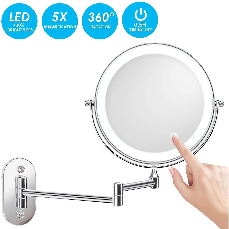 Specchio LED con Ingrandimento 1x/5x