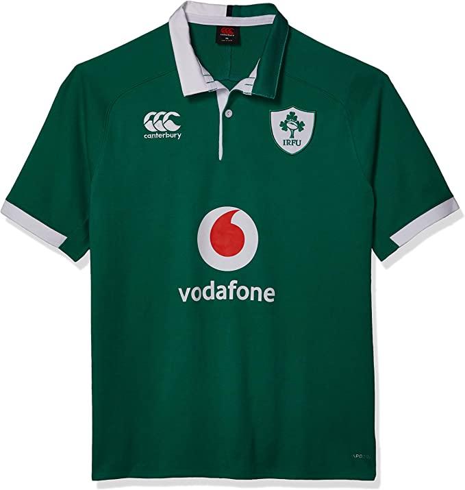 Canterbury of New Zealand Men's Ireland 19/20 Taglia M Vapodri Home Sleeve Classic Rugby Jersey