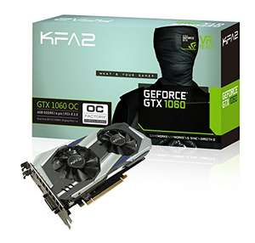AMAZON FRANCIA KFA2 60NRH7DSL9OK Carte Graphique Nvidia GeForce GTX 1060 OC, 6144 Mo GDDR5